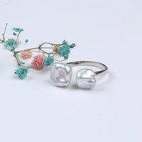 Натуральное преснонное водное жемчужное кольцо для женщин Регулируемая мода Keshi Reborn Bear Band кольца для ювелирных изделий аксессуары