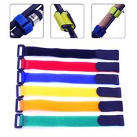 2 unids 2 * 50 cm Cierre reutilizable Corbata de bicicleta Nylon Hook Loop Durable Multil Propósito Autoadhesivo Correa de alta calidad Cable Lazos