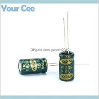 Kapasitörler Pasif Bileşenler Elektronik Ofis Okul Işletme Endüstriyel Toptan-20 adet Elektrolitik Yüksek Frekans 16 V 680UF AL