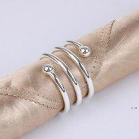 Metall Frühling Servietten Ringe für Tisch Küche Serviette Halter Hochzeit Bankett Abendessen Weihnachtsdekor Gunst Hwd6179