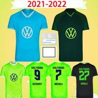 2021 2022 Wolfsburg Soccer Jersey 21 22 Steffen Whaghorst Home Away Third Football Shirt Brekalo Mehmedi Philipp Victor SA Gerhardt Arnold Xver Baku Lacroix Brooks