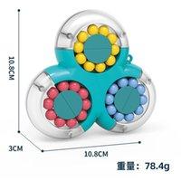 Fidget giocattolo rotante decompressione magica fagioli intelligence bambini finger Gyro disco puzzle migic cube giocattoli