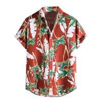Camicie casual da uomo Beach Men Summer Vacation Camisas PARO HOMBRE Noce di cocco Stampato a maniche corte Bottone Giù Hawaiian per S-2XL