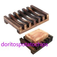 Natural Wooden Bamboo Soap Dish Tray Holder Storage Rack Plate Box Container for Bath Shower Bathroom sfg