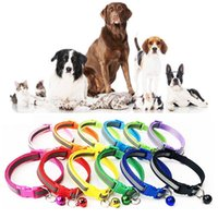 Dog Collars & Leashes Adjustable Nylon Pet Flashing Light Up With Bells Reflective Collar Night Safety For Little Dogs Cat