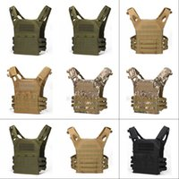 6Color Tactical Vest Quick Combat Hunting Vest Molle Chest Rig Protective Plate Carrier climbing adjustable Combat Gear Vests 206 X2