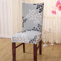Coperture sedia Copertura universale per legno Rimovibile Anti-Sporco Spandex Stretch Stretch Sala da pranzo Caso di seduta per matrimoni domestico