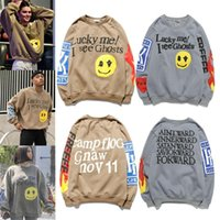 Herren Kleidung Frauen Kanye Stil Konzert Hoodie Herren Hoodies Pullover Lächelnd Gesicht Druck Sweatshirts Crew Hals Pullover Hip Hop Samtjacke