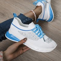 2019 Women Tennis Shoes Breathable Air Mesh Athletic Sneakers Female Lightweight Flexible Trainers Chaussures Femme