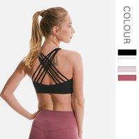 underwear Yoga Lulu no steel four ring line cross back fitness bra