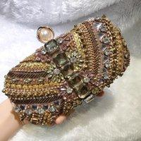Damen Perlen Abendtasche Weibliche handgemachte Kupplung Taschen Mädchen Diamant Bankett Handtasche für Party Antique Cheongsam Kleid Bag10