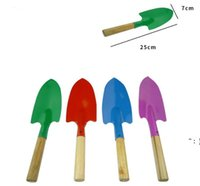 Mini Gardening Shovel Colorful Metal Small Shoveles Garden Spade Hardware Tools Digging Kids Spades Tool BWB6781
