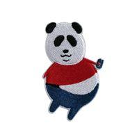 10pcs stranezza carino panda cucito ferro sui patch nozioni ricamato motivo di applique decorazione di applique riparazione personalizzata patch day jeans fai da te jeans giacca arti arti
