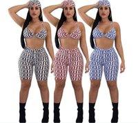 KGFIGU Женщины Двухструктурные наряды Летний Урожай Верх и брюки Устанавливает сексуальное печать без рукавов Женская одежда Club Подходящие наборы