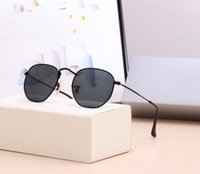 육각형 51mm 금속 브랜드 남성 여성 선글라스 남자 여자 맑은 렌즈 7 색 핑크 수은 실버 그린 상자 상자