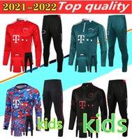 21 22 Kids Sane Soccer Bracksuit Survetement كرة القدم جيمس جاكيتات 2021 Vidal Lewandowski Muller سترة تدريب بدلة