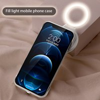 Fill Light Phone Cases For iPhone 12 11 Pro XR XS Max Live Streaming Ring Flash Beauty Selfie Lamp Protective Cover Shell WIth Retail Box