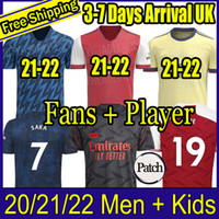 Fan Player versione Arsen Soccer Jersey 20 21 Odegaard Pepe Saka Nicolas Tierney Henry Willian Maitland-Niles 2020 2021 Camicie da calcio Bambini