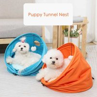 Kennels & Pens Folding Channel Pet Tunnel Cat Bed Small Dog Puppy Kennel Sleeping Bag Warm Nest Mini Toy Cage House Born Nes