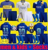 21 22 Boca Juniors Home Fútbol Jersey Bombonera 2021 2022 Carlitos Pérez de Rossi Tevez Pavon Football Shirt Men Kits Kits Uniformes Uniformes
