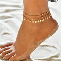 Bohemian Shell Heart Summer Anklets Set For Women Tortoise Ankle Bracelets Girls Barefoot on Leg Chain Female Jewelry Gift wjl4152