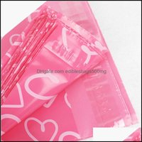 Transport Packaging Packing Office School Business & Industrial100Pcs Lot Poly Pe Mailer Express Bag 28*42Cm Mail Love Heart Envelope Self-S