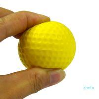 10 unids PU espuma pelotas de golf amarillo esponja elástica interior al aire libre entrenamiento