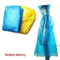 Einmalige PE-Regenmantel Mode Einweg-Regenmäntel Poncho Regenbekleidung Reise Regenmantel Für Reisen Home Einkaufen EWE5667