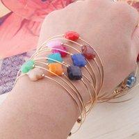 Charm Bracelets Open Natural Stone Bohemia De Madera Pulseira Estrela Cinco Pontas Adjustable Bracelet Perles Wholesale Boho
