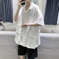 Hybskr Hommes de style chinois T-shirts en coton de style chinois 2021 Fête Femme Solid Color Tops Homme Casual Oversize