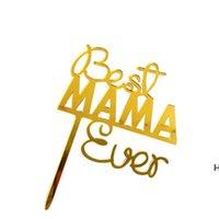 Glückliche Muttertagstorte Topper Party Supplies Acryl Rose Gold Dekoration DHD6109