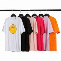 Luxurys Designers Mens Verão T-shirt Respirável Multicolor Smiley Smiley Imprimir Tee Homem Mulheres de Alta Qualidade Manga Curta Casais Moda Tees S-XXL