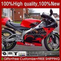 Kit de corpo para Aprilia Rs-250 RSV250 RS RS250 RS250R RS250R RED 95 96 97 24NO.50 RSV250R RSV250RR 1995 1996 1997 RSV-250 RS250RR 95-97 Fairing da motocicleta