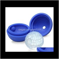 Kitchen Tools Kitchen, Dining Bar Home & Garden Drop Delivery 2021 Creative Sile Blue Wars Death Star Round Ball Ice Cube Mold Tray Desert Sp
