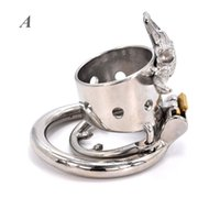 Open Penis Rings Bull Head Skeleton Male Chastity Device Metal Cock Cage BDSM Bondage Belt Naughty Sex Toys for Men
