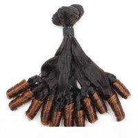 Funmi Hair 100a ombre T1b 4 Bunchy Spring Curl 4Bundles 최고급 품질 브라질 페루 말레이시아 인도 머리카락