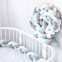 Bumper WZW-YW3397 Long Kids Cotton Knots Decorative Cushion Sofa Pillow Braid Knotted Crib Bed Protector Baby Pillow Decor 15 Colors 1956 V2