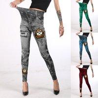 Women's Leggings Leggins Push Up Pants For Women Halloween Printed Thin Mid-waist High Stretch Cotton Seamless Legginsy Pantalon Pour Femme