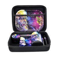 New smoking pipes accessories sets Herb grinder rolling trays jars cigarette case smoking sets