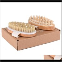 Brushes, Sponges Scrubbers Bathroom Accessories Bath Home & Garden Drop Delivery 2021 Natural Boar Bristles Brush Cellulite Circulation Spa W