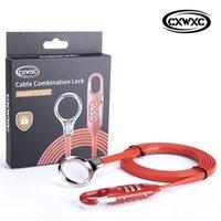 Verrouille de vélo 100% Original CXWXC Code de câble multifonctionnel Code de câble pour vélo 180cm Long et portable Stockage Alliage de zinc PVC