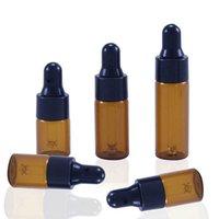 5ml Black Cap Refill PipPer Bernstein Glasflasche Essenz Massage Pflanze Öl Serum Aromatherapie Flüssig Pipette Hautpflege