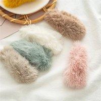 Korean Lovely Plush Hairpin For Women Headdress New Versatile Hair Clips Fashion Side Clip Barrettes Girl Hair Accessories Gift