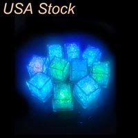 Novidade Iluminação Descompressão Brinquedo Mini Led Festa Luzes Quadrado Cor Mudança de Gelo Cubos Incandescentes Piscando Fornecimento de Piscar USA Stock