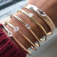 Fashion 3 PCS Set Crystal Multiple Simple Boho Bracelet & Bangle Bohemian Style Bracelets For Women Wedding Jewerly