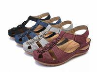 Новые 2020 летние женщины сандалии плюс размер клинья обувь для женщин летние туфли шлепанцы Femme платформы сандалии на платформе леди мягкие S5LH #
