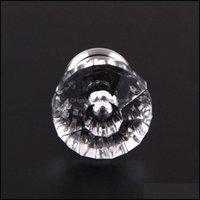 Aessories Furniture & Gardenwholesale- 30Mm Diamond Crystal Glass Der Cabinet Wardrobe Screw Pl Handle Knob Home Kitchen Decor Door Handles