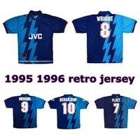 1995 1996 Bergkamp Wright retro soccer jersey 95 96 Adams PLATT KEOWN Merson Hillier vintage classic football shirt