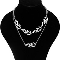 Fashion Stainless Steel Flame Necklace Clavicle Chain Neck Hat Sale Chains