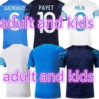 2021 Futbol Formaları 2022 OM Marsilya Maillot Ayak Konrad GuendouZi Gerson Payet Futbol Gömlek 21 22 Kamara Milik Erkekler Kids Kiti Üniformaları